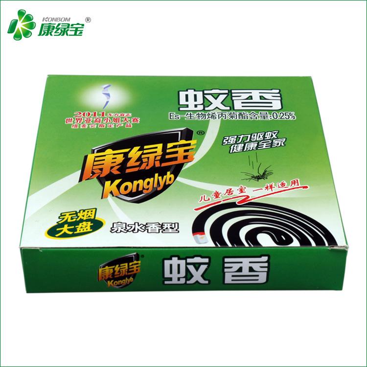 康绿宝 大盘无烟蚊香 泉水香型 安全有效驱蚊 盒装蚊香10盘