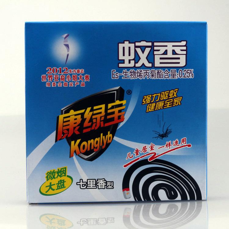 康绿宝七里香型微烟大盘蚊香 10单盘 强力驱杀蚊虫药 环保蚊香