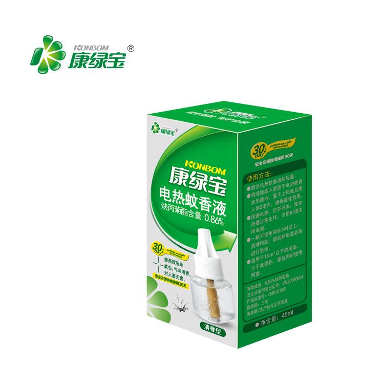 康绿宝电热蚊香液 单瓶装 孕妇驱蚊液婴儿液体驱蚊 清香型 灭蚊水
