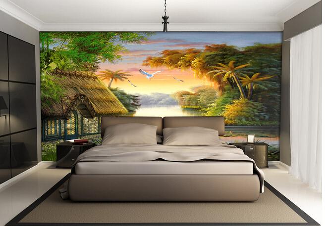 精美床头背景墙