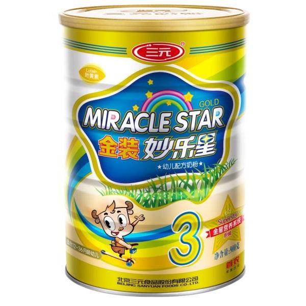 三元金装妙乐星幼儿配方奶粉③段