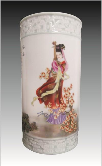 童义春 手绘陶瓷瓶