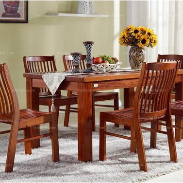 中式风格 进口桃花芯全实木餐桌